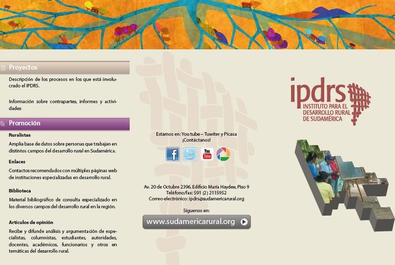 Presentación del tríptico www.sudamericarural.org